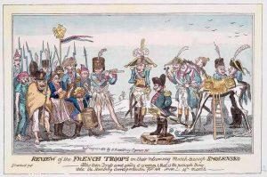 Французы после встречи с Дедом Морозом 1812 год
