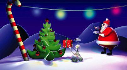 Робот и Дед Мороз!