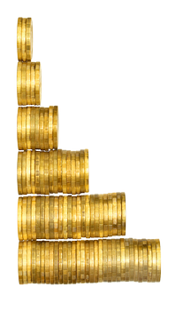 монеты деньги диаграммма столбик